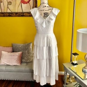 Banana Republic Dresses | Ruffle White Dress|